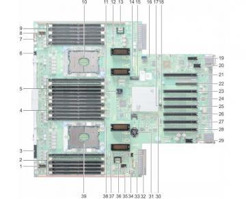 Bo mạch chủ máy chủ Dell PowerEdge R940 mainboard - JD73Y