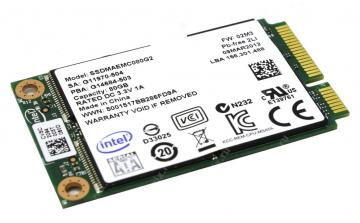 Ổ cứng SSD 40GB Intel SSD 310 Series mSATA 3Gb/s, 34nm, MLC
