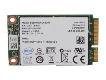 Ổ cứng SSD 24GB Intel SSD 313 Series mSATA 3Gb/s, 25nm, SLC