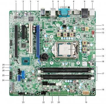 Bo mạch chủ máy chủ Dell PowerEdge T30 mainboard - 07T4MC / 7T4MC
