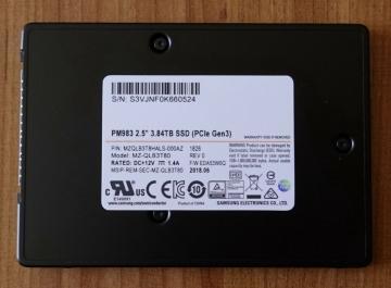 MZQLB3T8HALS-00007 Ổ cứng SSD 3.84TB Samsung PM983 2.5 NVMe PCIe3.0 x4
