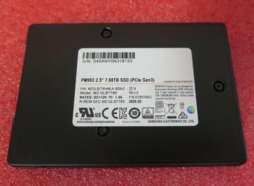 MZQLB7T6HMLA-00007 Ổ cứng SSD 7.68TB Samsung PM983 2.5 NVMe PCIe3.0 x4